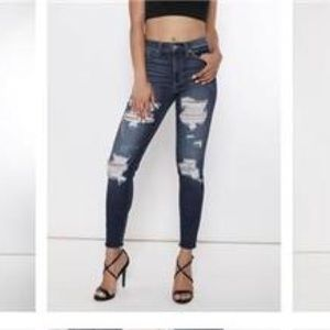 KanCan High Rise Destroyed Skinny Jean NWT